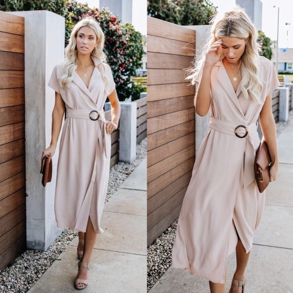 Vici Belted Wrap Dress